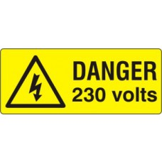 Danger 230 volts - SAV (49 x 20mm, sheet of 56 labels)