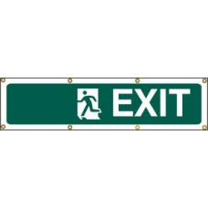 Exit man left (with separate arrow) - BAN (1200 x 300mm)