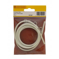 4 ft Coil Curtain Wire with Hooks & Eyes