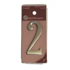 """2"""" Silver Effect Numeral 2"""