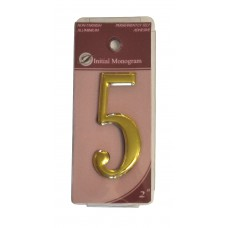 """2"""" Gold Effect Numeral 5"""