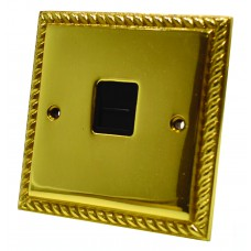 Georgian Brass Secondary Phone Socket