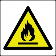 Flammable symbol - Labels (50 x 50mm Roll of 250)