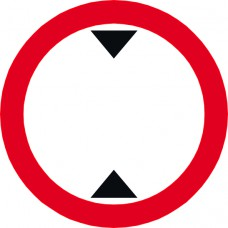 600mm dia. Dibond 'Height Restriction...' Road Sign (without channel)