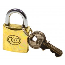 25mm Brass Tri-Circle Padlock