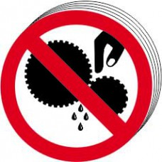 Do not touch symbol - SAV (100mm dia.) (Pack of 10)
