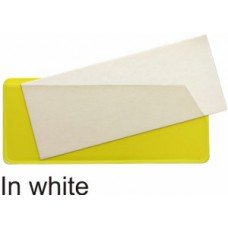 Magnetic Slide Pockets Side & Top Opening - 58 x 138mm (White - Pack 10)