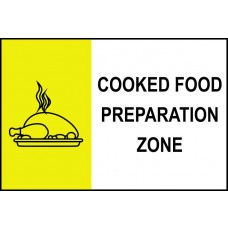 Cooked food preparation zone - PVC (300 x 200mm)