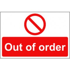 Out of order - RPVC (300 x 200mm)