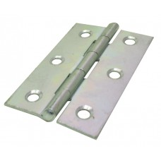 75mm ZP 1838 Pattern Steel Butt Hinge (1 pair)