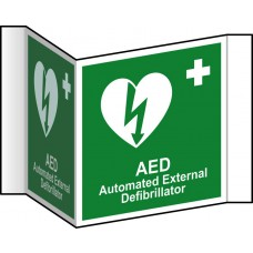 AED (Projection sign) - RPVC (200mm face)