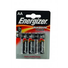 Energizer Batteries  - Power Alkaline - AA x 4