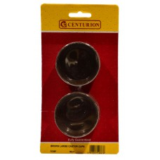 60mm Brown Castor Cups (Pack of 4)