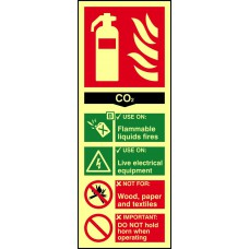 Fire extinguisher composite - CO2 - PHS (75 x 200mm)
