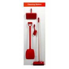 Shadowboard - Cleaning Station Style A (Red)