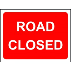 Road Closed - TriFlex Roll up traffic sign (1050 x 750mm)