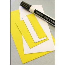 Magnetic Location Markers - 50 x 80mm (Yellow Pack of 10)