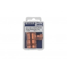 22 x 22 x 15mm Solder Ring Copper Reducing Tee