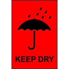 Keep dry - Paper Packaging Labels (100 x 150mm Roll of 1000)