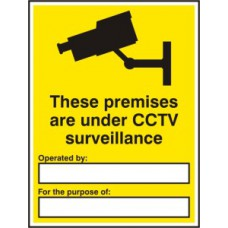 Warning These premises are under CCTV... - RPVC (300 x 400mm) **Complete with customer details**
