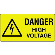 Danger high voltage - Labels (50 x 25mm Roll of 250)