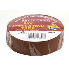 19mm x 20m Brown PVC Tape