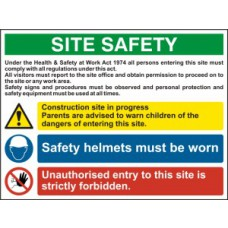 Site Safety Composite - Foamex (800 x 600mm)