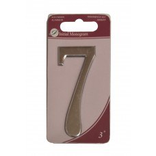 """3"""" Silver Effect Numeral 7"""