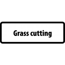 Supplementary Plate 'Grass cutting' - ZIN (860 x 360mm)
