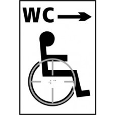 Disabled WC arrow right - Taktyle (150 x 225mm)