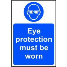 Eye protection must be worn - SAV (400 x 600mm)