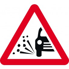 750mm tri. Temporary Sign - Loose Gravel