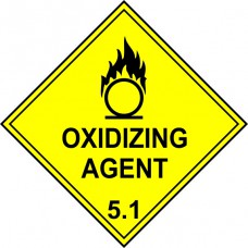 Oxidizing Agent 5.1 - Labels (250 x 250mm Pack of 10)