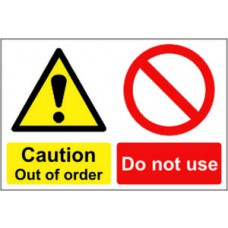 Caution Out of order Do not use - RPVC (300 x 200mm)