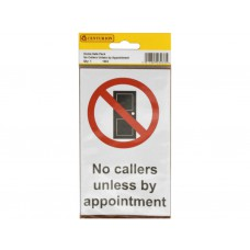 89mm x 145mm Home Safe Pack 'No Callers Unless...' (Pack of 2)