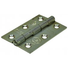 75mm BZP Steel Butt Hinges CE Fire Rated 1.5pr