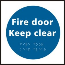 Fire door Keep clear - Taktyle (150 x 150mm)