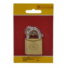 38mm Brass Tri-Circle Padlock