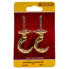 45mm PB Antique Tassel Hook (Pack of 2)