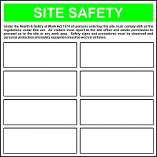 'Build your own' Site Safety Template - FMX (650 x 650mm)
