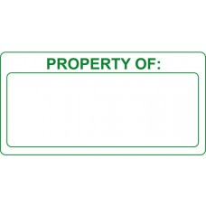 Property of - Self Laminating Labels  (50 x 25mm Roll of 250)