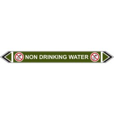 Flow Marker - Non Drinking Water (Green - 5 pack)