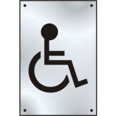 Disabled graphic door plate - SSS (100 x 150mm)