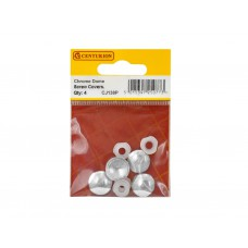 Chromed Plastic Dome Screw Cover (Pack of 4)