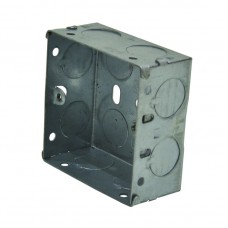 1 Gang 35mm  Deep Galvanised Steel Box