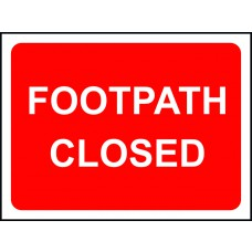 Footpath Closed - Classic Roll up traffic sign (600 x 450mm)