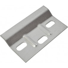 68.5 x 38mm BZP Ribbed Wall Plate (Pack of 2)