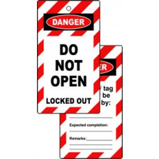 Lockout tags - DO NOT OPEN (Double sided 10 pack)