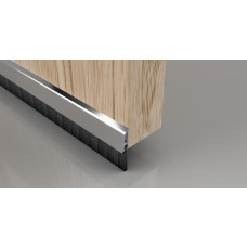 Concealed Brush Strip - 838mm Polished Chrome Effect Aluminium