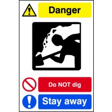 Quarry Sign: Do not dig / Stay away - DIB (400 x 600mm)